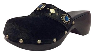 Calleen Cordero Black with blue gems Mules