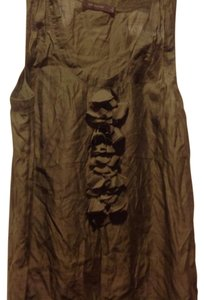 The Limited Sleeveless Color Ruffle Front Like New Top Olive green