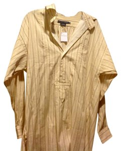 Ralph Lauren New Tags Whitebw Like New Comfy And Classic Top Beige with fine black stripes