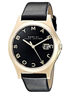 Marc by Marc Jacobs Marc Jacobs Women's The Slim Black Leather Watch MBM1357
