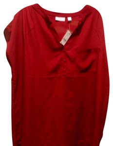 New York & Company & Co She'll With Tags Top Red / burgundy