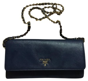 Prada Navy Blue Clutch