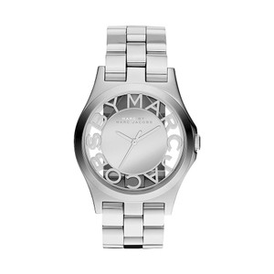 Marc by Marc Jacobs Marc Jacobs Women's Henry Silver-Tone Skeleton Watch MBM3205