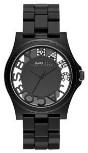 Marc by Marc Jacobs Marc Jacobs Women's Henry Skeleton Black Link Watch MBM4572
