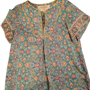 Lauren Moffatt Asian Inspired Silk Top Print