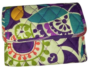Vera Bradley Multi-colored Floral Folding Wallet - Very Cute! Good Condition!