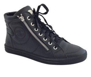 Chanel Side Zip Sneakers black Athletic