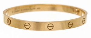 Cartier Cartier 18K Yellow Gold Love Bracelet (Size 18)