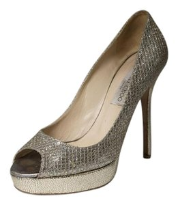Jimmy Choo Gold Heel Gold/Silver Pumps