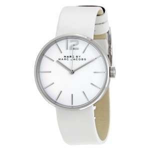 Marc by Marc Jacobs Marc Jacobs Women's Peggy White Leather Watch MBM1361