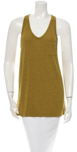 T by Alexander Wang Draped Bohemian Boho Layer Chartreuse Top Chartreuse Yellow