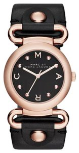 Marc by Marc Jacobs Marc Jacobs Women's Molly Black Leather Watch MBM1335