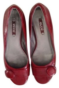 Ecco Comfort red patent leather Flats
