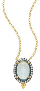 Freida Rothman New! Blue Oval Pendant Necklace