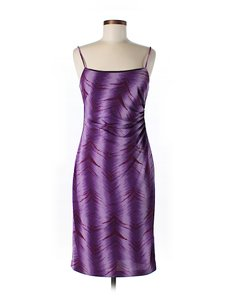 Purple Maxi Dress by Nicole Miller Print Sleeveless Shift Sheath