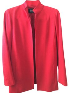 Dana Buchman 55% Wool 37% Viscose 6%nylon Red Jacket