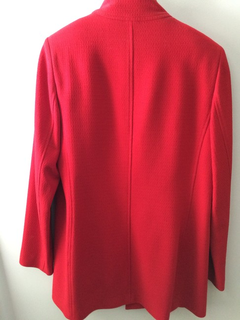 Dana Buchman 55% Wool 37% Viscose 6%nylon 1%spandex Dryclean Only Red Jacket