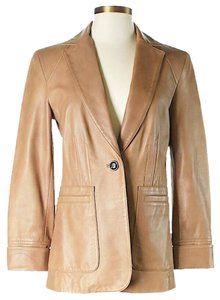 Cole Haan Lambskin Tan Leather Jacket