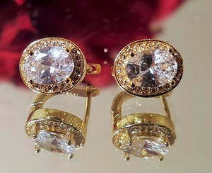 Other Gorgeous Gold Plated High Quality Cubic Zirconia Stud Earrings