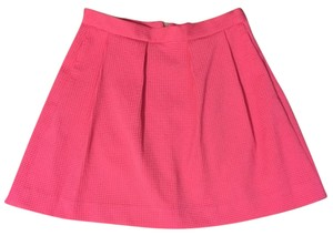 French Connection Skater Fit And Flare Mini Skirt Spring Break PINK