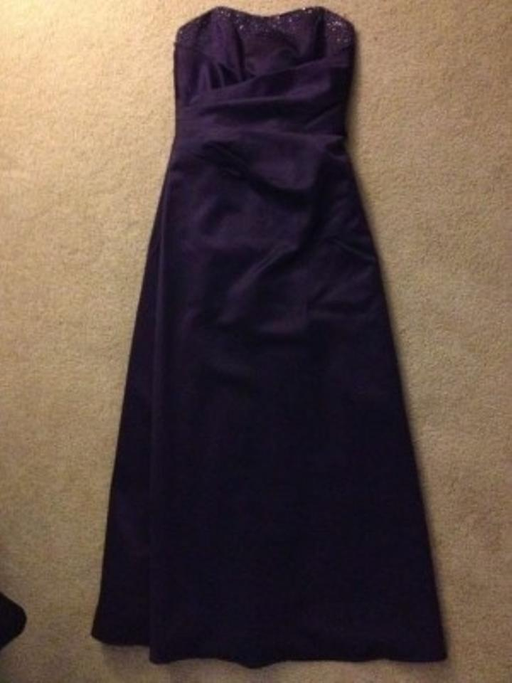 Alfred Angelo Eggplant Polyester Style #7027 Formal Bridesmaid/Mob ...
