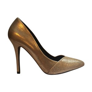 ALDO Gold Pumps