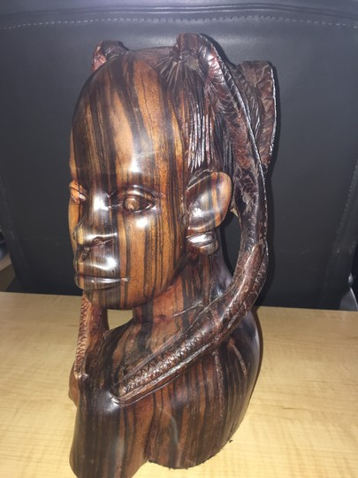 Other Nigerian Woman; Ebony Carved Bust [ SisterSoul Closet ]