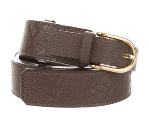 Louis Vuitton Brown monogram Empreinte leather Louis Vuitton Gracieuse 30MM belt