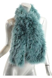Sonia Rykiel SONIA RYKIEL Sea Foam Green 100% Feather Muffler/Scarf