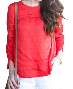J.Crew 3/4 Sleeves Top Red