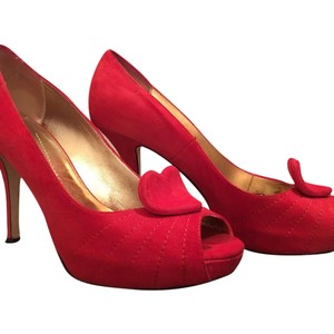Kate Spade Red Platforms