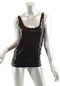 DKNY Sequin Evening Top Black