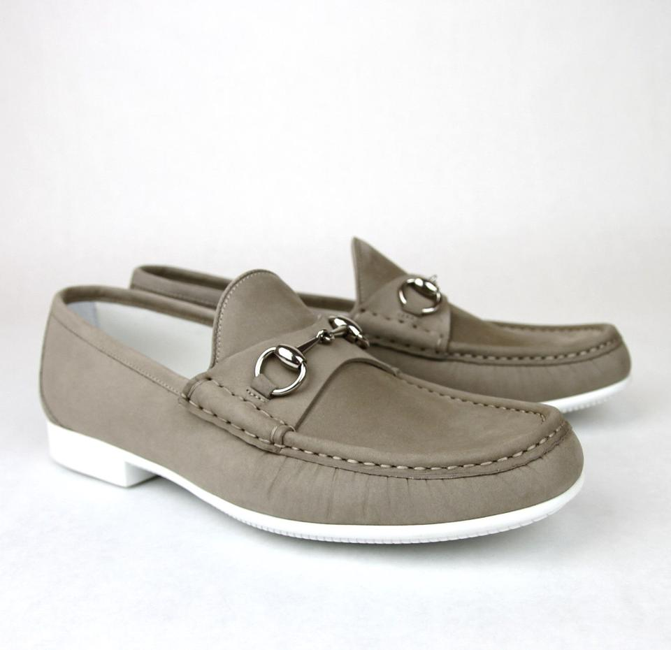 9abe85a065f Gucci Dark Beige Horsebit Mens Suede Loafer Moccasin 337060 Bho00 Size 8 Us  9 Shoes