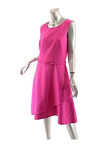 Oscar de la Renta Fuchsia Wool Blend Dress