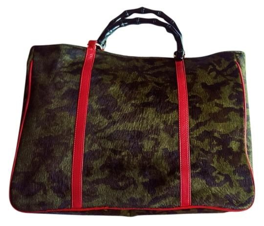 Roberto Vascon Handbag Cowhide Xl Leather Tote in Forest Green