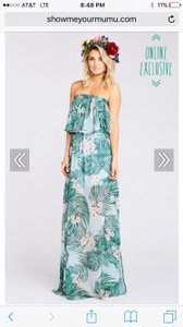 Show Me Your Mumu Hanalei Dream Poly - Wrinkle Free Hacienda Maxi Destination Bridesmaid/Mob Dress Size 6 (S)