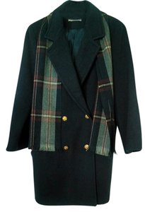 Forecaster of Boston Wool Blue Brass Buttons Scarf Winter Classic Vintage Made In Usa Pea Coat