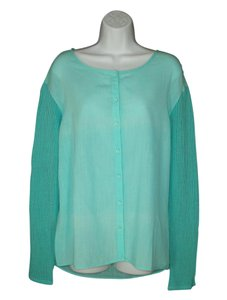 Michael Stars Mesh Knit Aqua Top