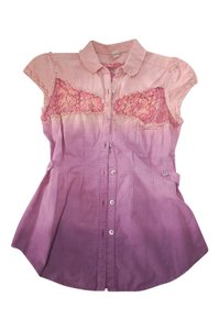 Free People Button Down Shirt Pink Purple