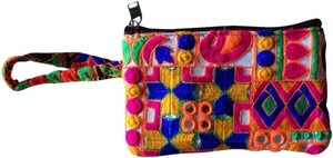Colorful Pouch Wristlet in Multicolor
