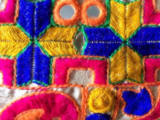 Other Colorful Pouch Indian New Wristlet in Multicolor