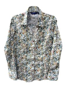 Georg Roth Los Angeles Sequins Diamonds Cotton Embellished Button Down Shirt Multi