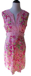 Lilly Pulitzer short dress Pink green yellow on Tradesy