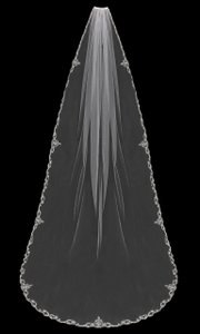 EnVogue Bridal Elegant White Cathedral Wedding Veil V1794c