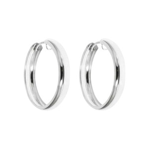 Solid sterling silver Solid sterling silver bangle hoops 26mm