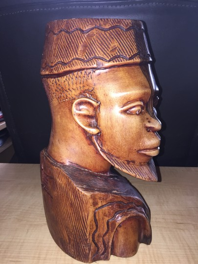 Other Nigerian Man; Ebony Carved Bust [ SisterSoul Closet ]
