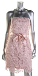 Adrianna Papell Lace Strapless Dress