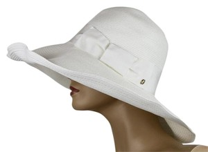 Gucci $435 New Gucci Women's White Straw Havana Hat w/Bow Size M 309138 9096