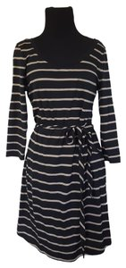 Banana Republic short dress Black & Tan Striped Belted Pocket on Tradesy