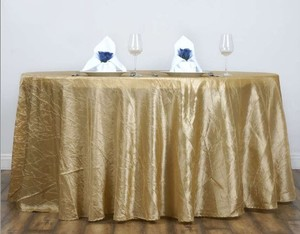 Champagne Gold Crinkle Tablecloths 120